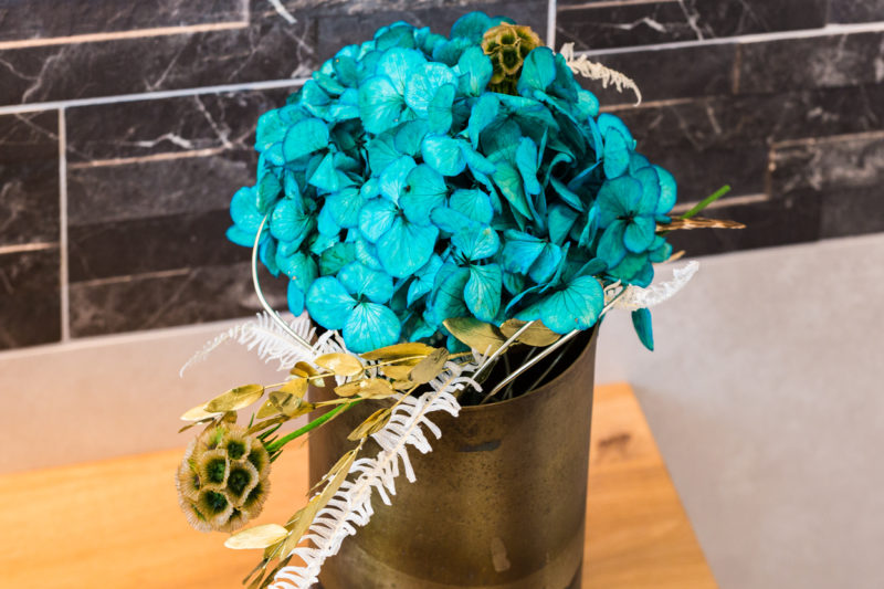 Flowerdecor in blau