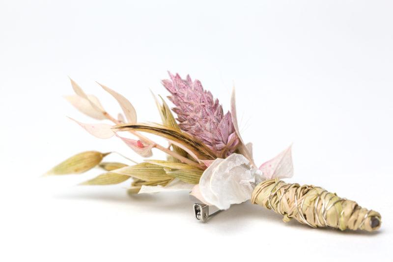 dried flowers anstecker bräutigam