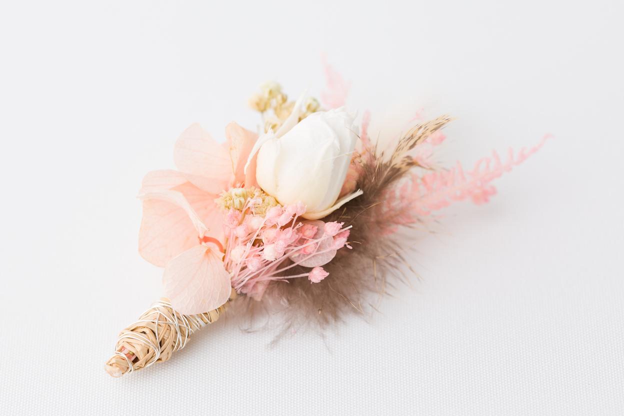 Blumen Anstecker aus Trockenblumen Hochzeit Trauzeuge