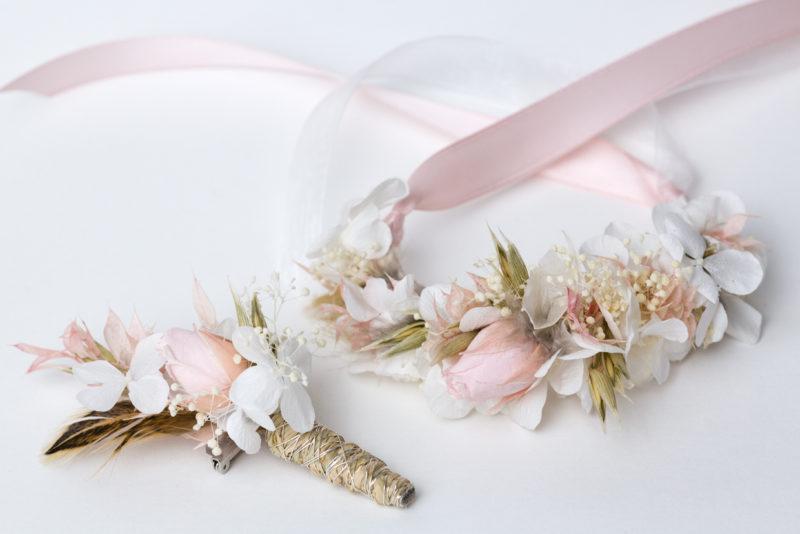 Blumenarmband dauerhaft zur hochzeit für trauzeugin
